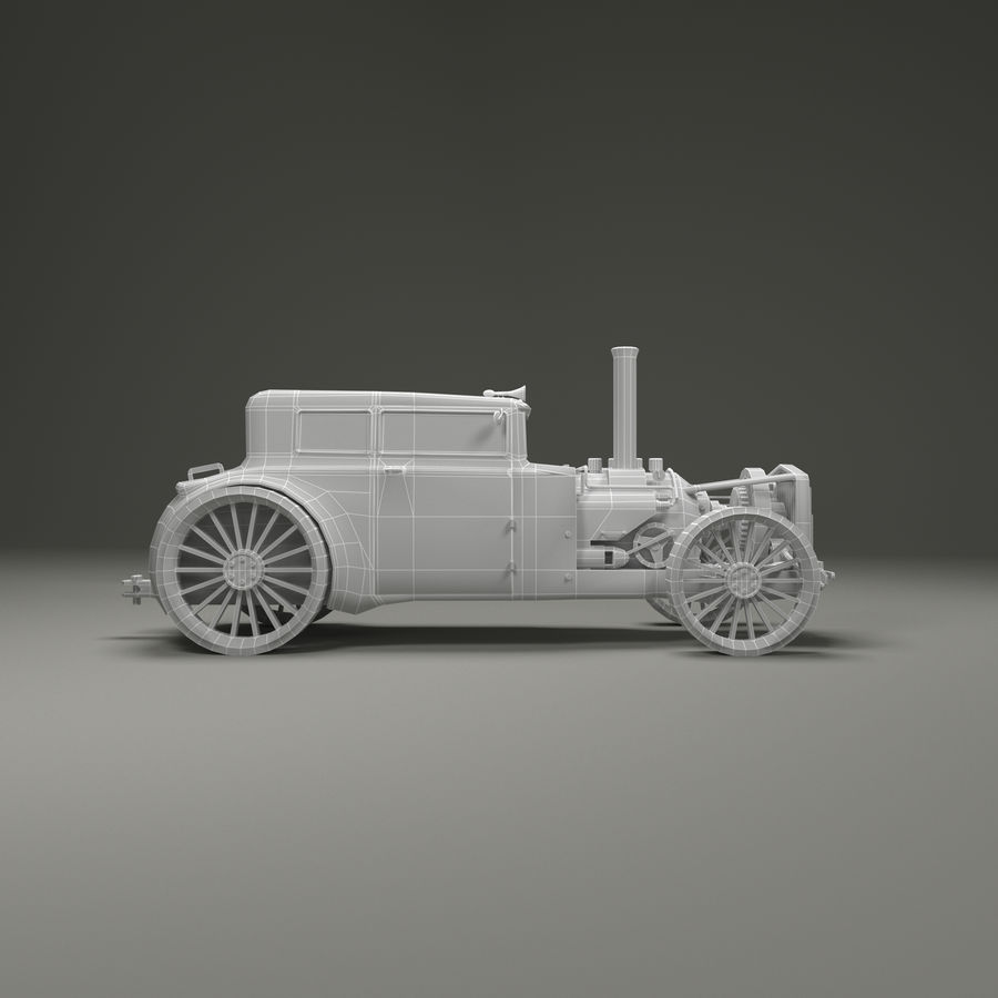 Voiture steampunk royalty-free 3d model - Preview no. 7