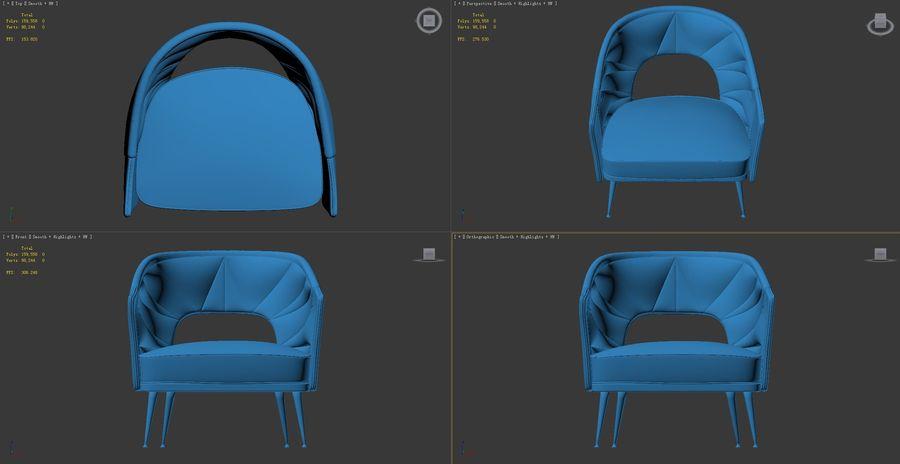 stola fåtölj royalty-free 3d model - Preview no. 5