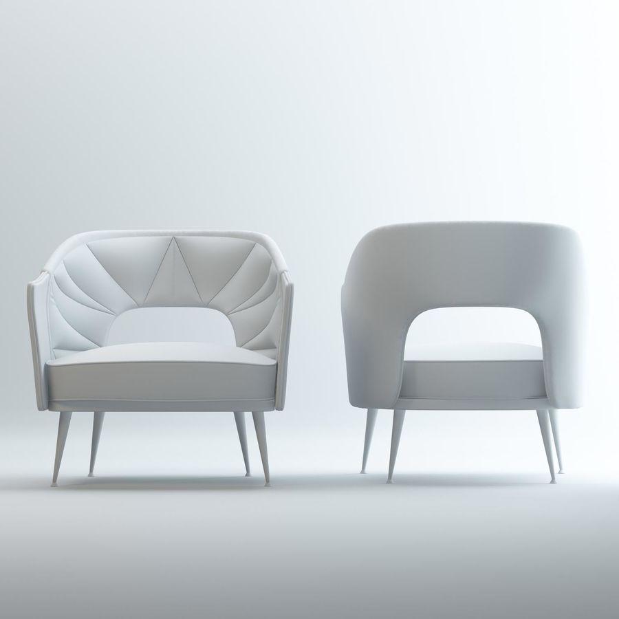 stola fåtölj royalty-free 3d model - Preview no. 3
