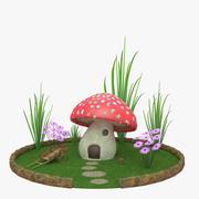 paddestoel huis 3d model