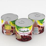 Bonduelle haricot rouge haricot de 425 ml 3d model