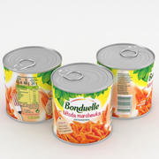 Bonduelle Small Young Carrots 425ml Can 3d model