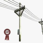 Utility Pole 3d model