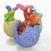 Baby Dragons 3d model