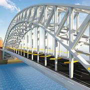 Metal Structured Bridge 3d model