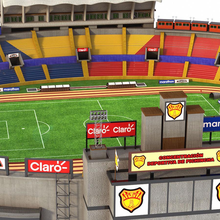 Stadion piłkarski royalty-free 3d model - Preview no. 3
