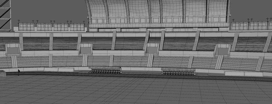 Stadion piłkarski royalty-free 3d model - Preview no. 11
