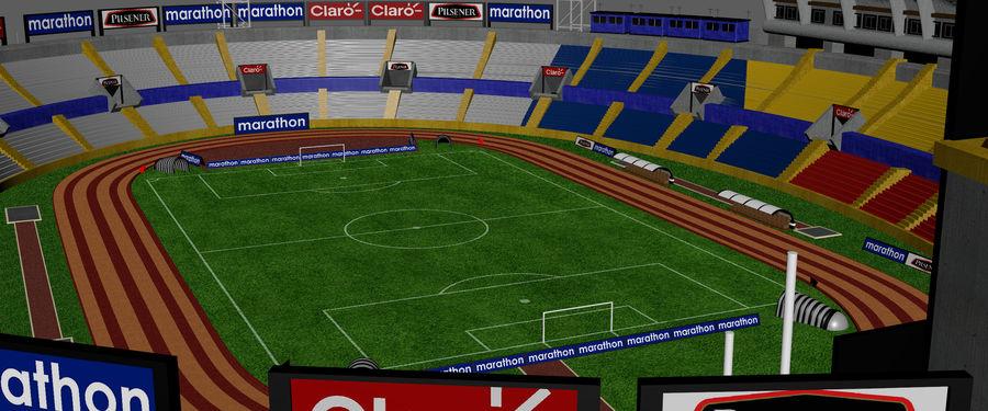 Stadion piłkarski royalty-free 3d model - Preview no. 6