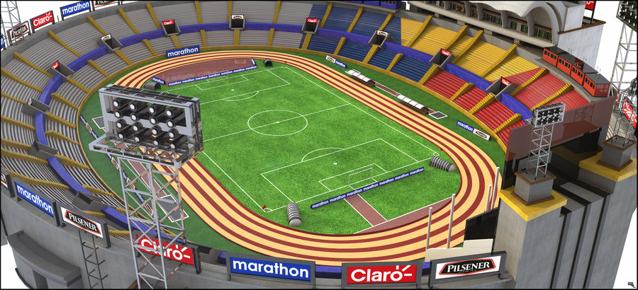 Stadion piłkarski royalty-free 3d model - Preview no. 2