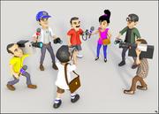 Репортеры мультфильм 3d model
