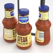 Hellmans Steak Saus 250ml 3d model