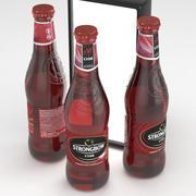 强弓苹果酒深色水果330毫升瓶 3d model