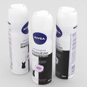Nivea Woman Anti-Perspirant Invisible for Black and White 150ml 3d model