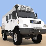 Camion Fourgon 4x4 3d model