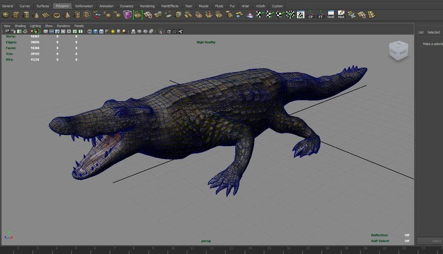 krokodil låg poly spel redo royalty-free 3d model - Preview no. 27