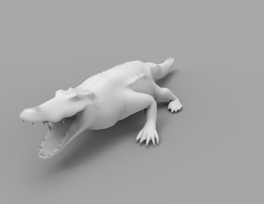 krokodil låg poly spel redo royalty-free 3d model - Preview no. 37