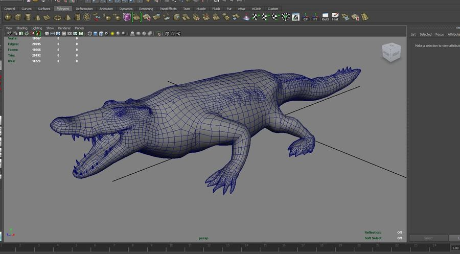 krokodil låg poly spel redo royalty-free 3d model - Preview no. 26