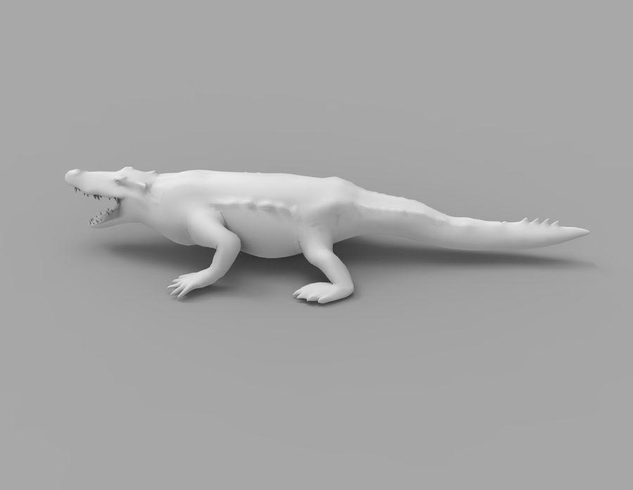 krokodil låg poly spel redo royalty-free 3d model - Preview no. 38