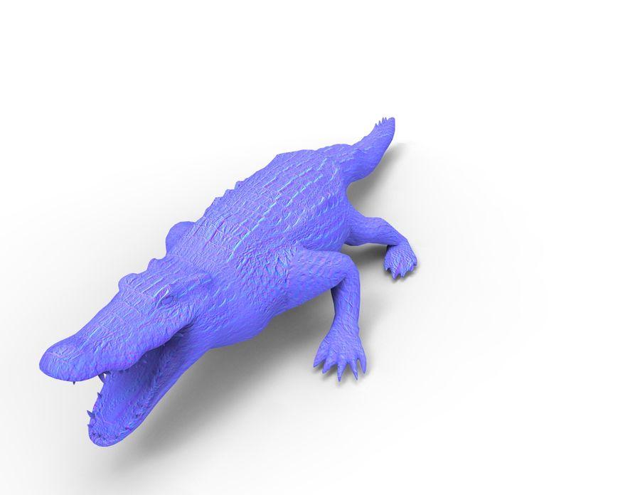 krokodil låg poly spel redo royalty-free 3d model - Preview no. 33