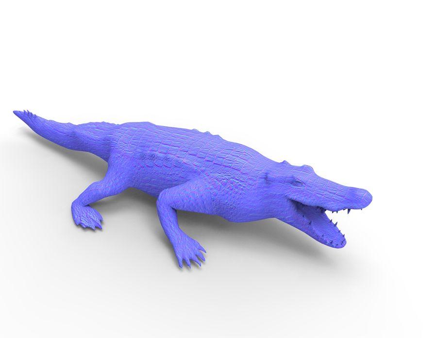 krokodil låg poly spel redo royalty-free 3d model - Preview no. 32