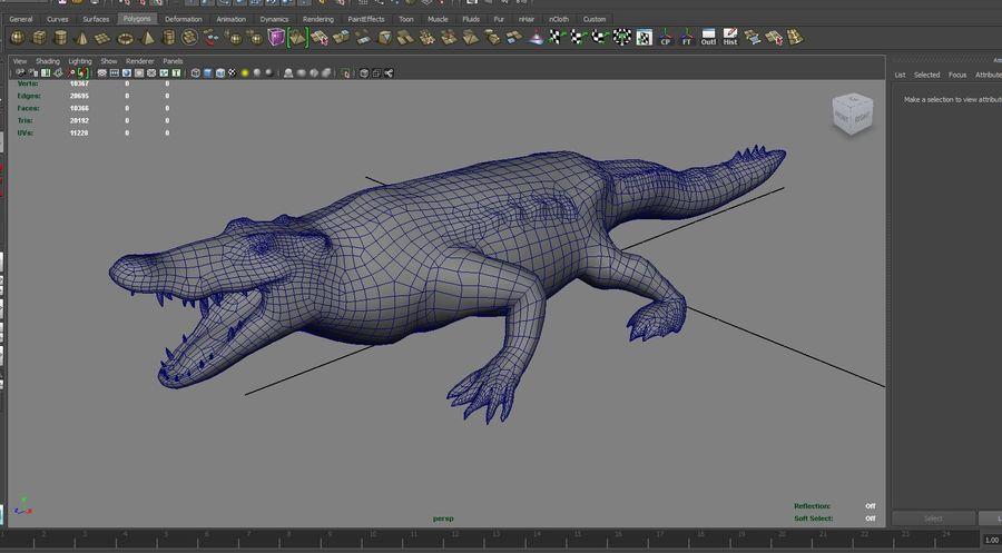 krokodil låg poly spel redo royalty-free 3d model - Preview no. 17