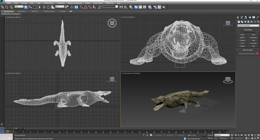 krokodil låg poly spel redo royalty-free 3d model - Preview no. 29