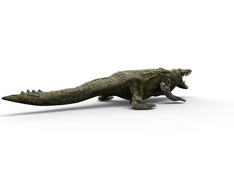 krokodil låg poly spel redo royalty-free 3d model - Preview no. 11