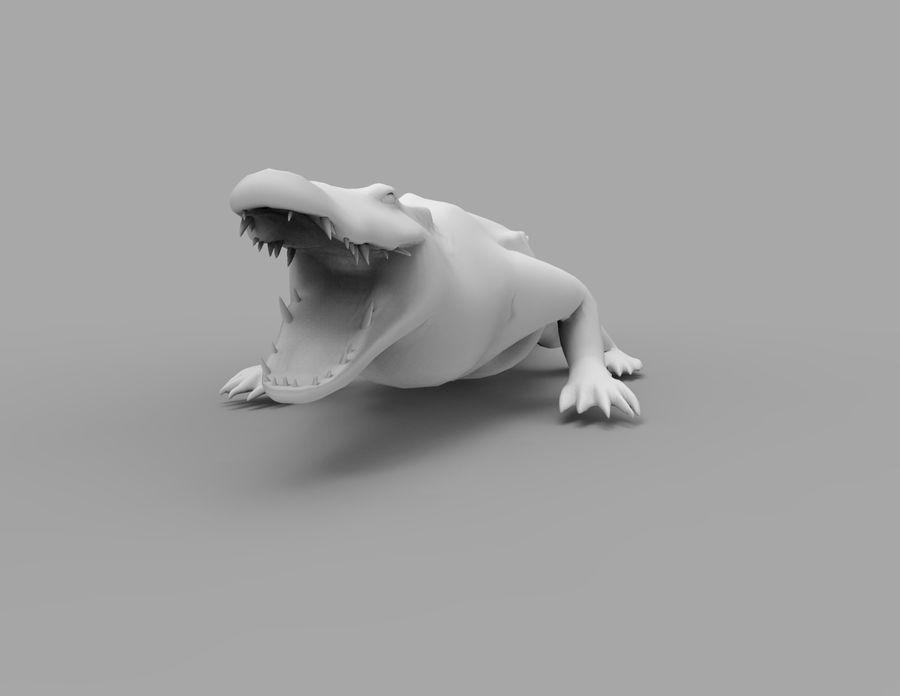 krokodil låg poly spel redo royalty-free 3d model - Preview no. 39