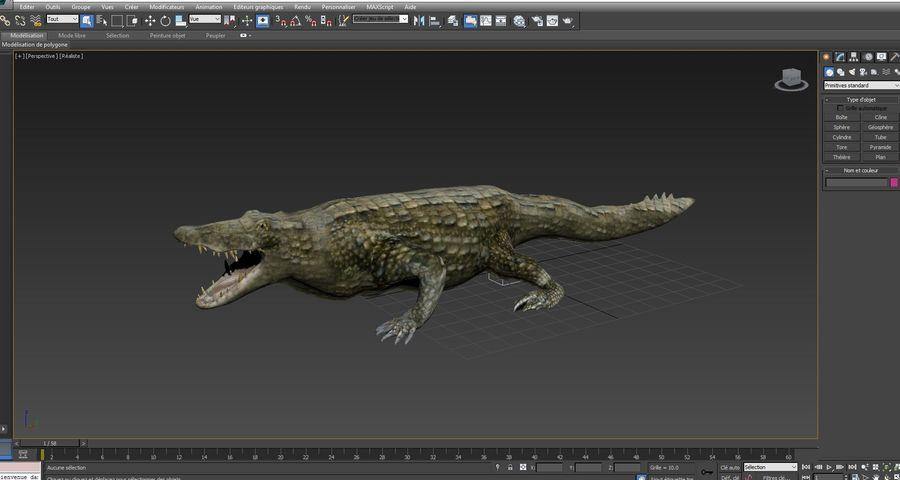 krokodil låg poly spel redo royalty-free 3d model - Preview no. 30
