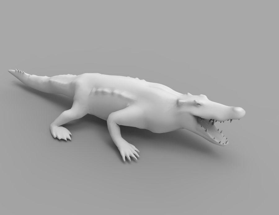 krokodil låg poly spel redo royalty-free 3d model - Preview no. 36