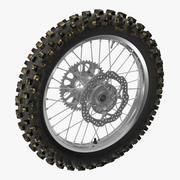 Model 3D tylnego koła motocykla Motocross 3d model