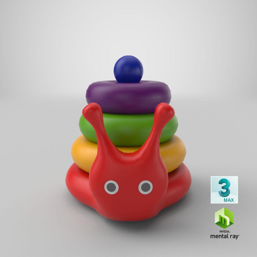 おもちゃのピラミッドカタツムリ royalty-free 3d model - Preview no. 18