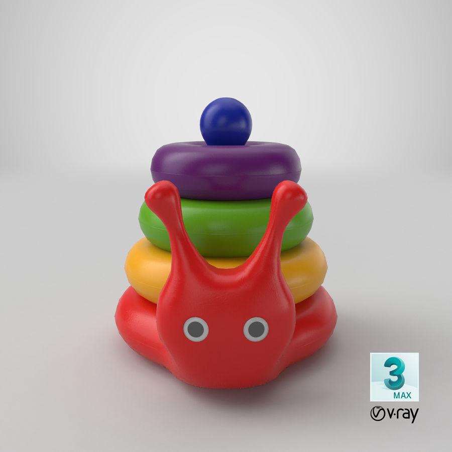 おもちゃのピラミッドカタツムリ royalty-free 3d model - Preview no. 17