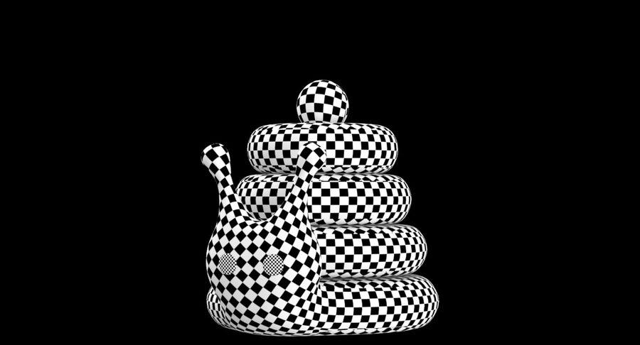 おもちゃのピラミッドカタツムリ royalty-free 3d model - Preview no. 14