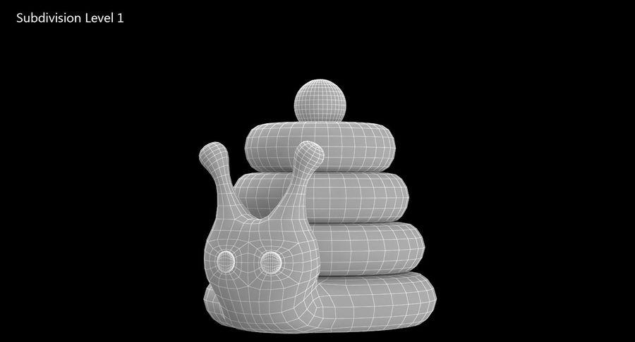 おもちゃのピラミッドカタツムリ royalty-free 3d model - Preview no. 10