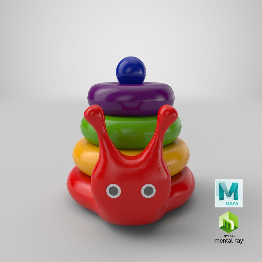 おもちゃのピラミッドカタツムリ royalty-free 3d model - Preview no. 16