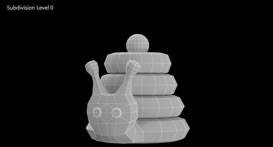 おもちゃのピラミッドカタツムリ royalty-free 3d model - Preview no. 9