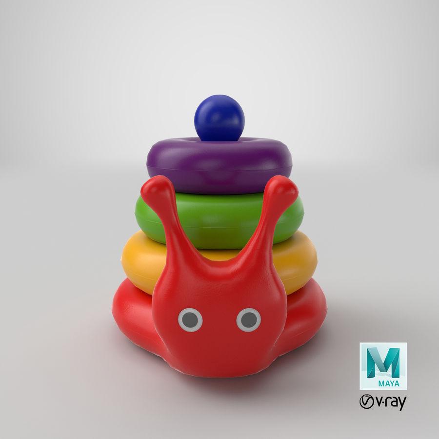おもちゃのピラミッドカタツムリ royalty-free 3d model - Preview no. 15