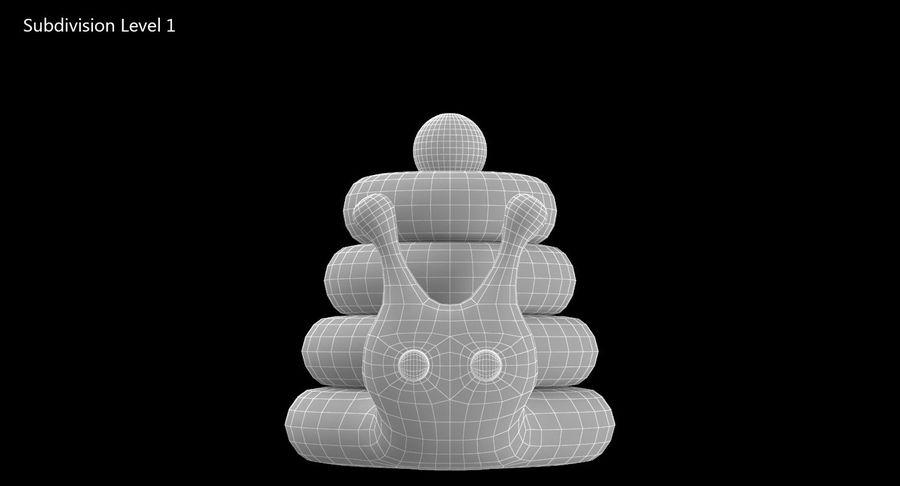 おもちゃのピラミッドカタツムリ royalty-free 3d model - Preview no. 12