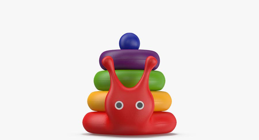 おもちゃのピラミッドカタツムリ royalty-free 3d model - Preview no. 4