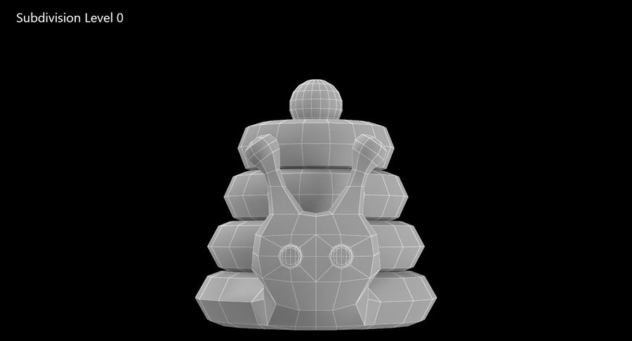 おもちゃのピラミッドカタツムリ royalty-free 3d model - Preview no. 11