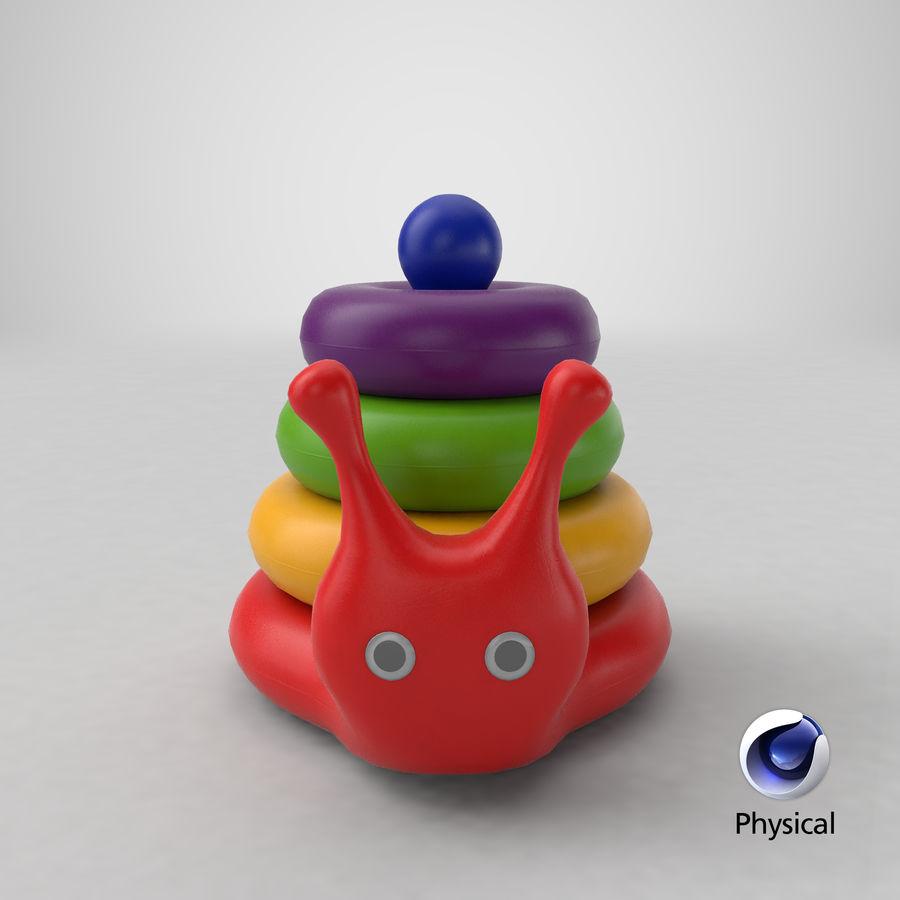 おもちゃのピラミッドカタツムリ royalty-free 3d model - Preview no. 19