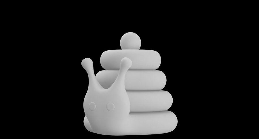 おもちゃのピラミッドカタツムリ royalty-free 3d model - Preview no. 13