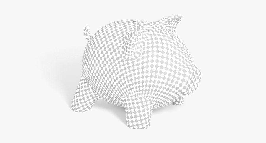 Piggy Bank Pig royalty-free 3d model - Preview no. 15