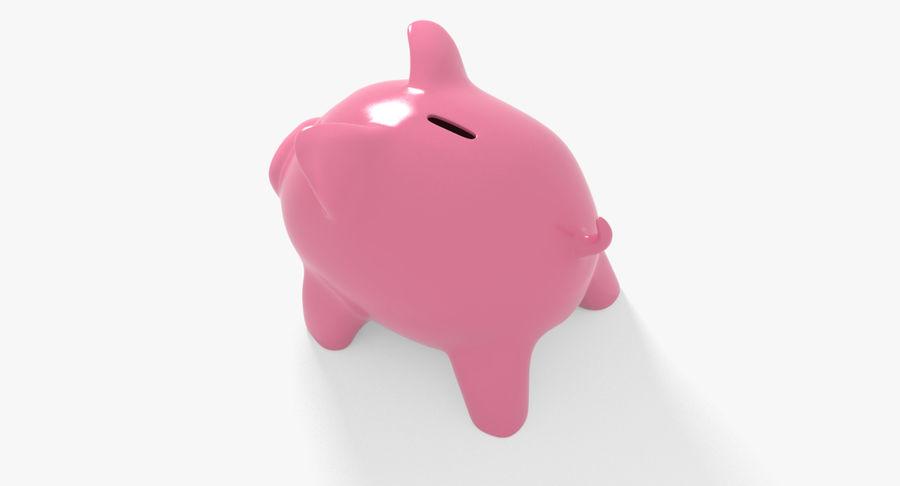 Piggy Bank Pig royalty-free 3d model - Preview no. 5