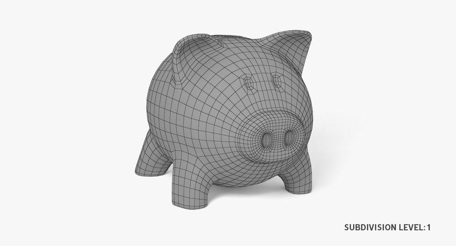 Piggy Bank Pig royalty-free 3d model - Preview no. 9