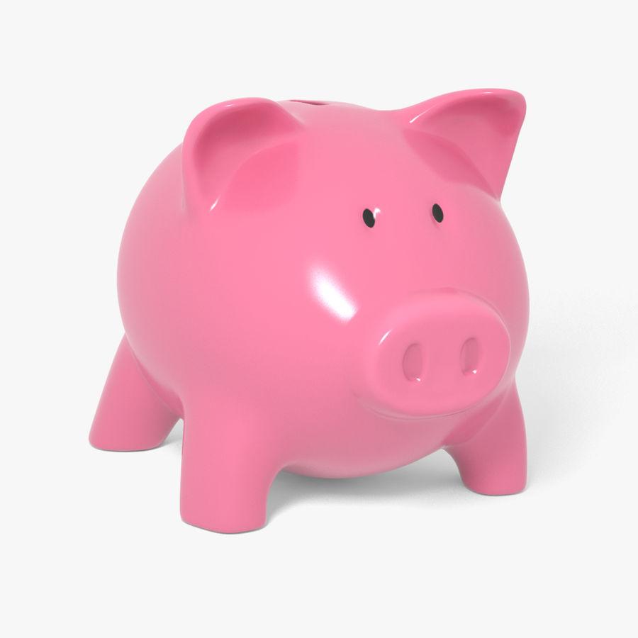 Piggy Bank Pig royalty-free 3d model - Preview no. 1