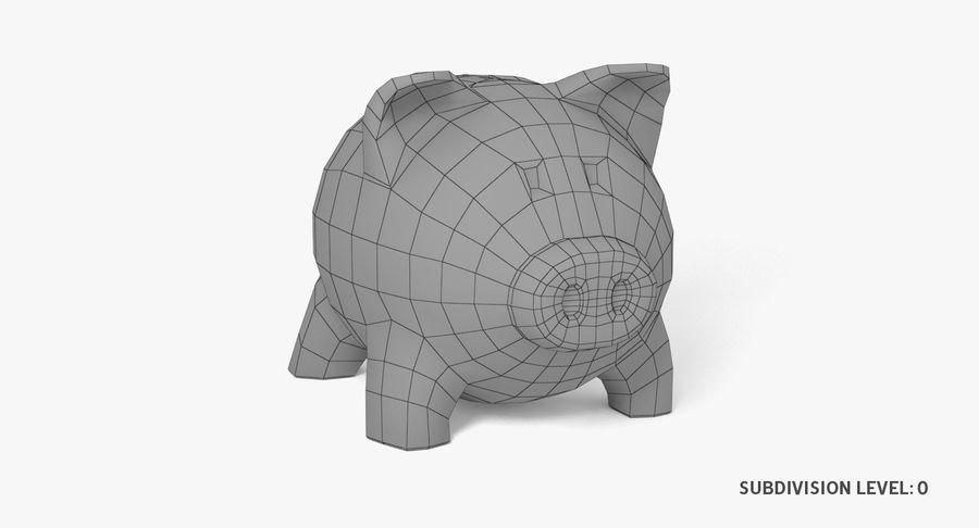 Piggy Bank Pig royalty-free 3d model - Preview no. 8