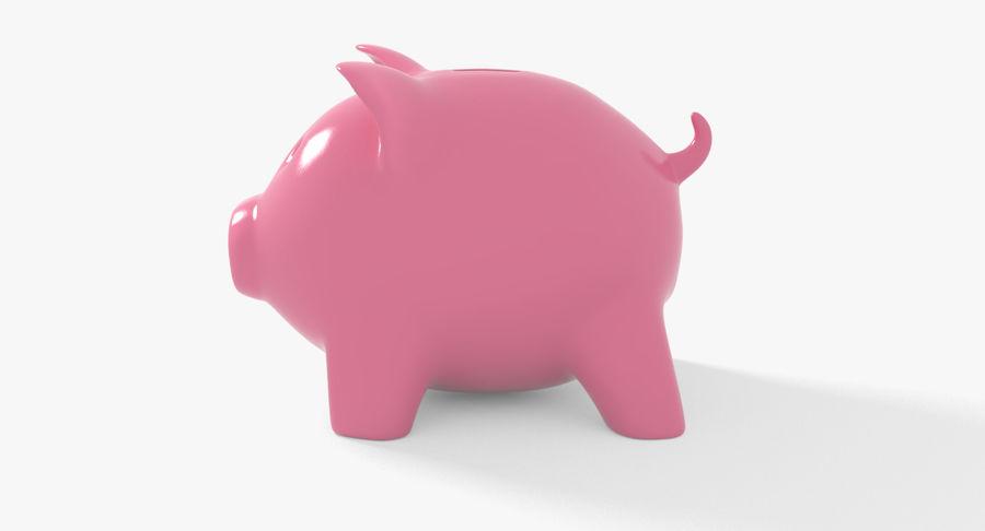 Piggy Bank Pig royalty-free 3d model - Preview no. 4