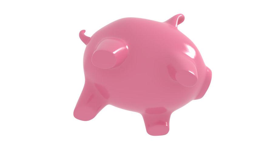 Piggy Bank Pig royalty-free 3d model - Preview no. 6